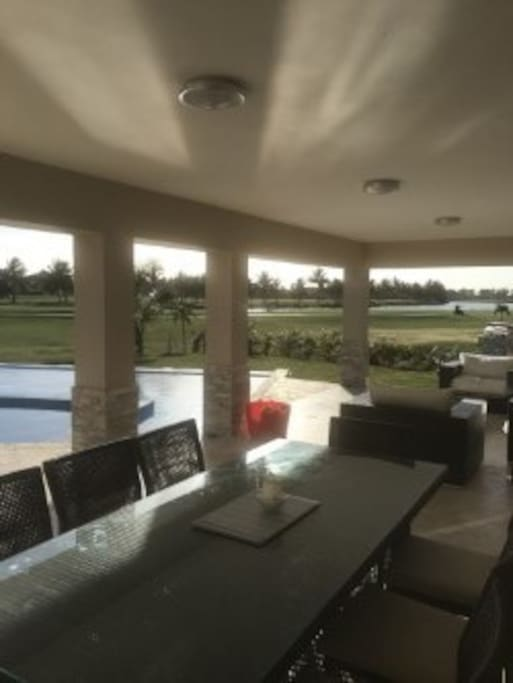 Outside sitting/dining area