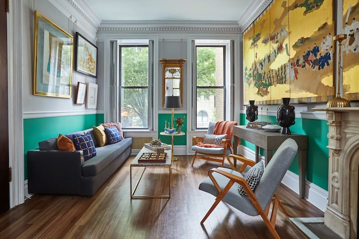 Beautiful Brooklyn Brownstone Entire Parlor Floor.