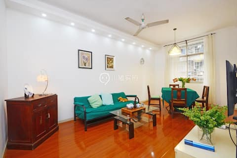 Free Parking Real Double Subway Exit Super Clean 2BR Wuhan Most Restful Room