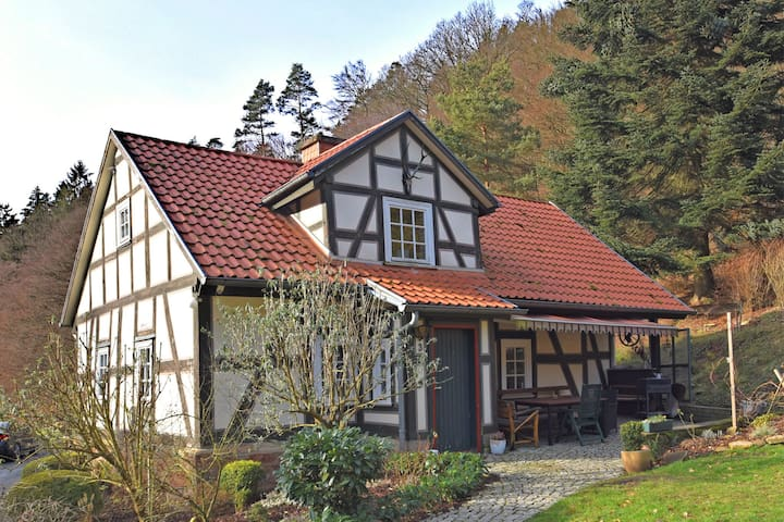Detached holiday home in Rotenburg an der Fulda with fireplace and a large terrace