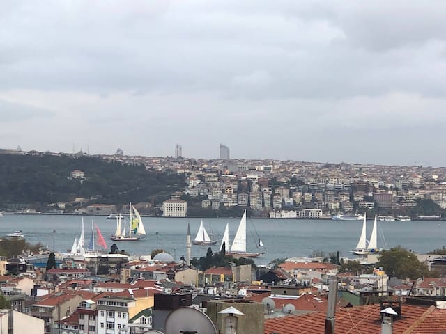 Bosphorus view &   Private Terrace at Tesvikiye