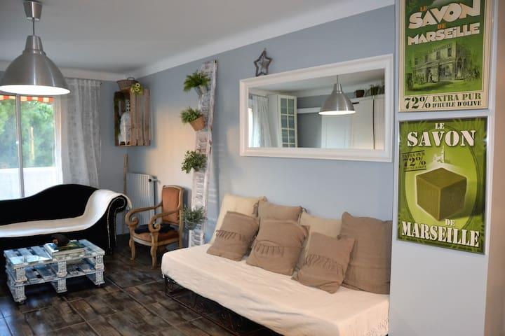 2 chambres privées avec balcon et parking gratuit