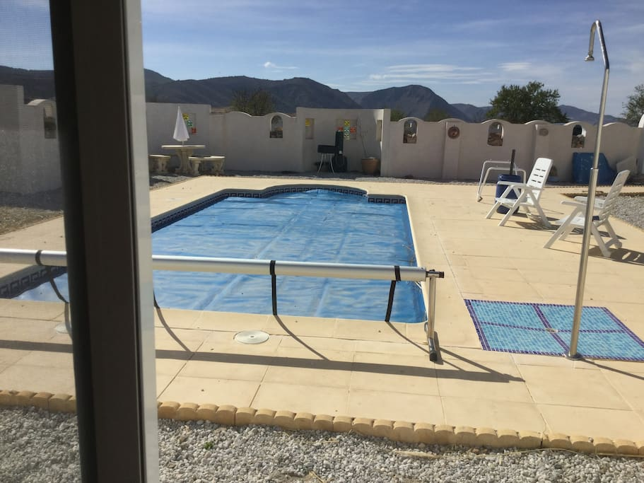 View from master bedroom - overlooking pool
