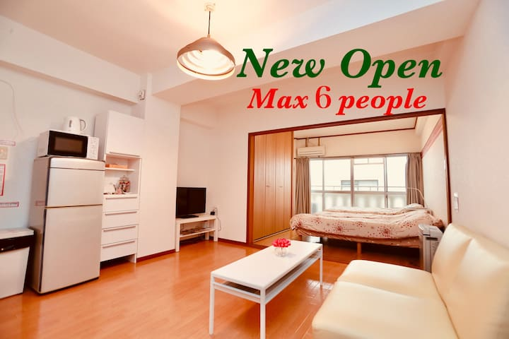 13mins from Airport!!Tenjin area☆Max 6 people