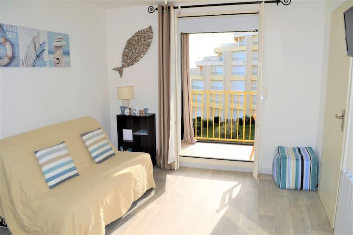 Agréable T2 vue mer expo Sud, Wifi - Le Barcarès - Apartment