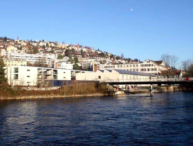 Private, Clean riverside Room (Zurich City) 2