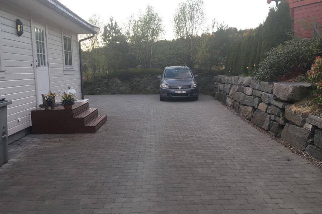 2-3 parking spaces and parking space in the garage