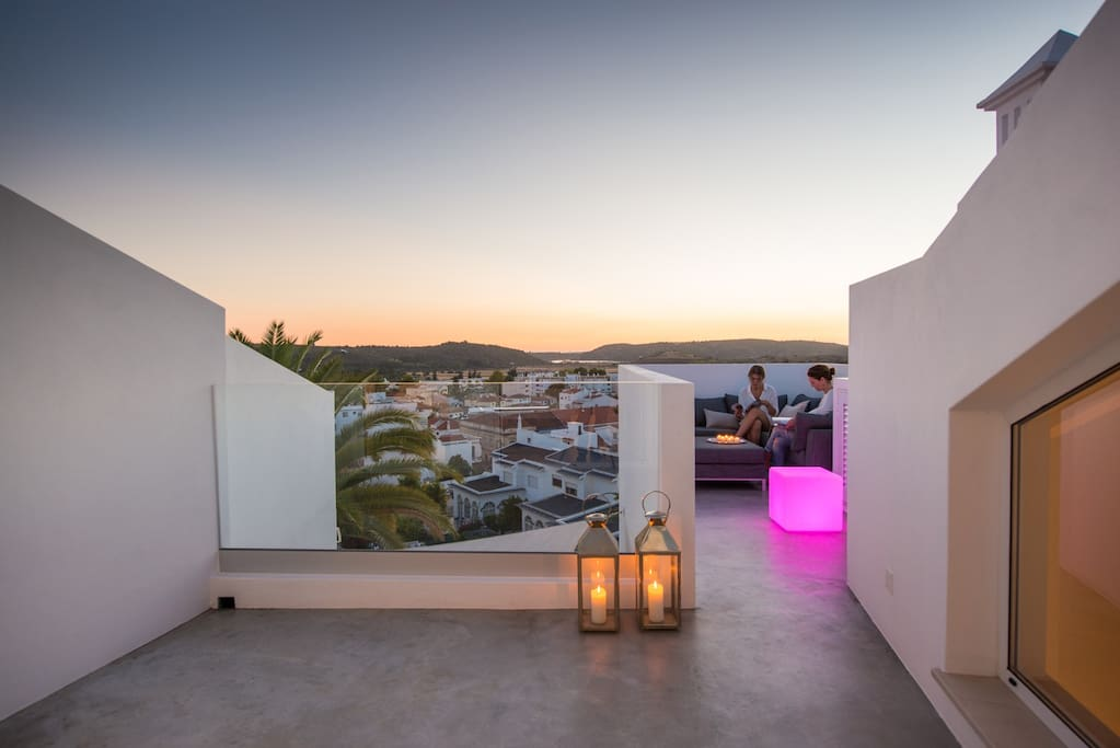 The lounge terrace has the widest views of all three terraces Casa da Lila has to offer