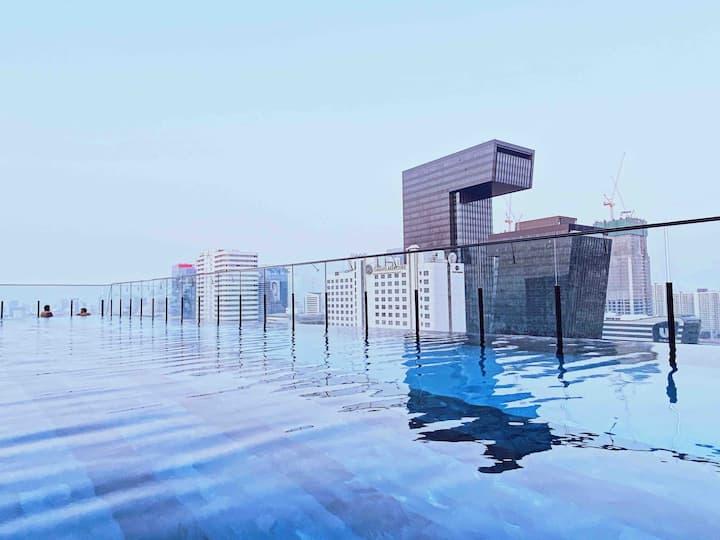 【8897】BKK CENTRAL-RAMA 9/绝佳无边观景泳池/近火车夜市/Termina21