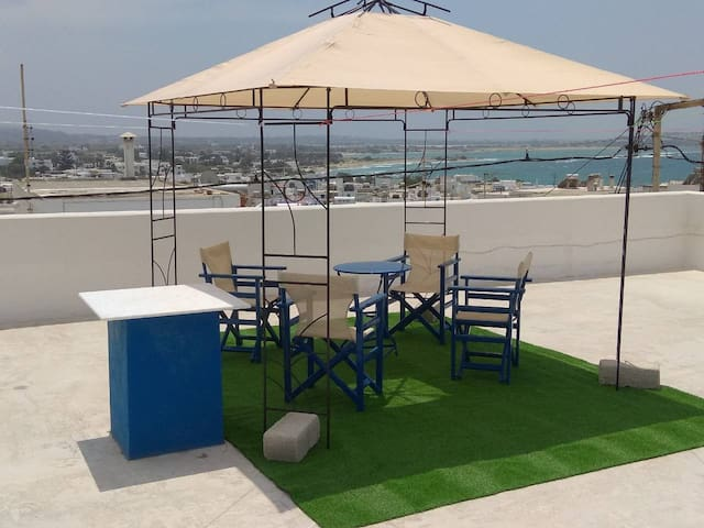 My home in Naxos town with sea view