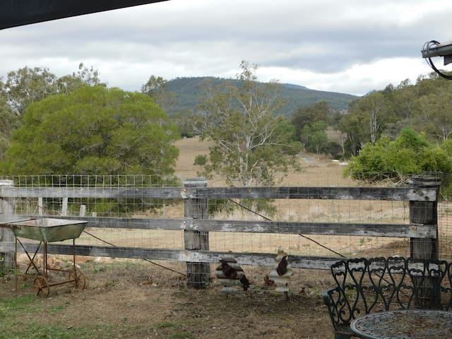 View from Dairy outdoor living area