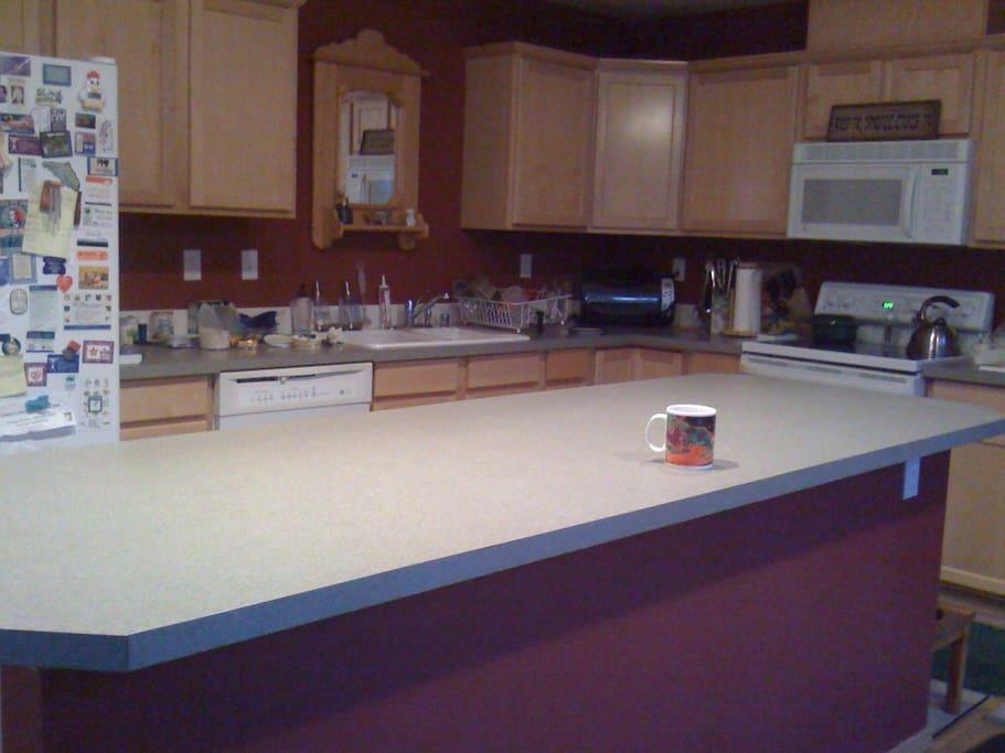 Wonderful large kitchen w/large island.