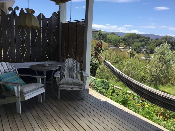 self contained vista apartment with own deck area