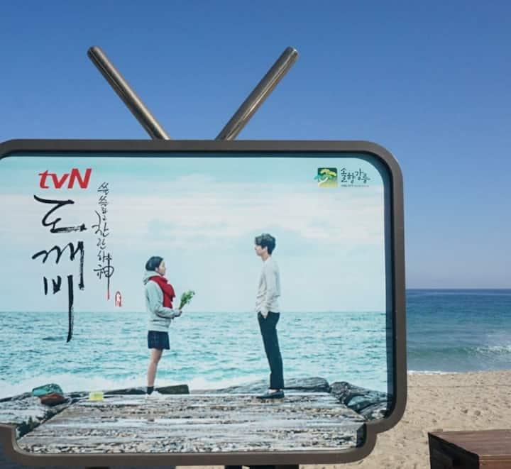 12월 행사중🎀 별빛바다 블링하우스 ♥ #오션뷰#영진해변 #바다도보1분#강릉숙소