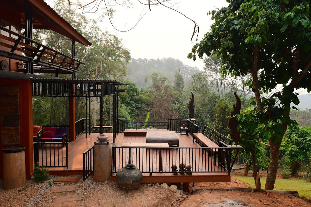 Downstair's terrace