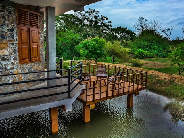 Porch on First Floor Overlooking Lake