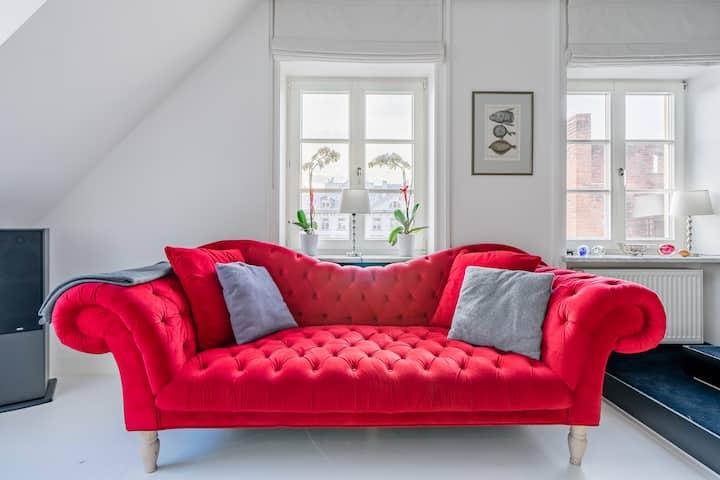 Przytulny nowoczesny apartament w samym sercu Warszawy