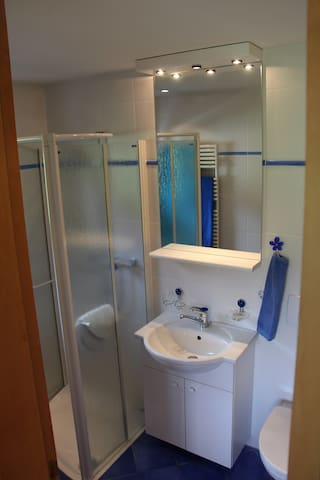 Bad mit WC, Lavabo und Dusche