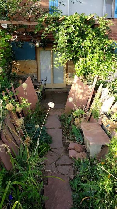 Garden path entrance.