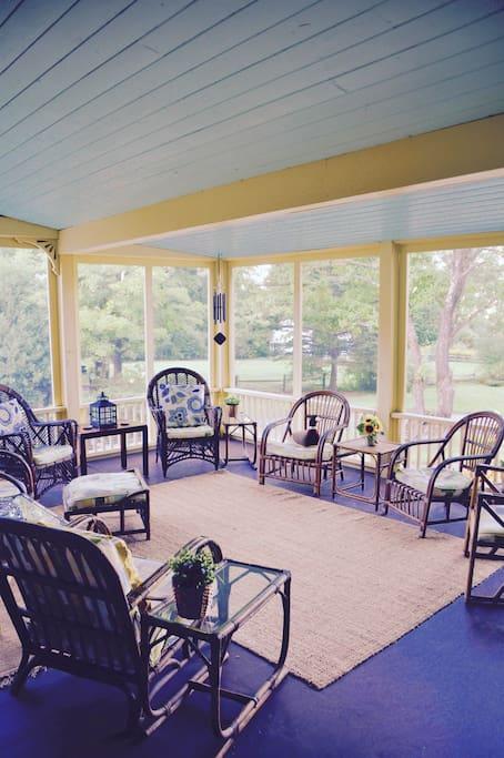Back porch, seats 8