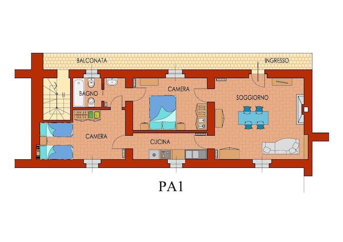 Appartamento I° piano Palazzo Barbò - Torre Pallavicina - Apartment