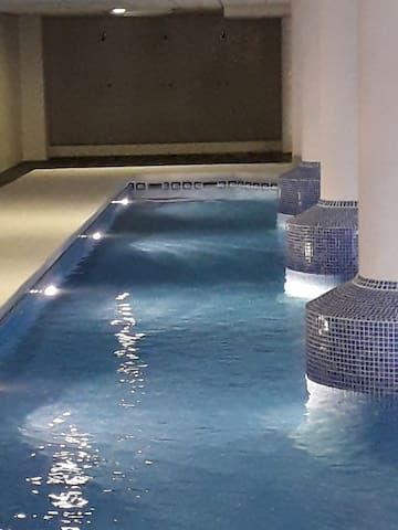 Winter swimming pool inside the buidling.