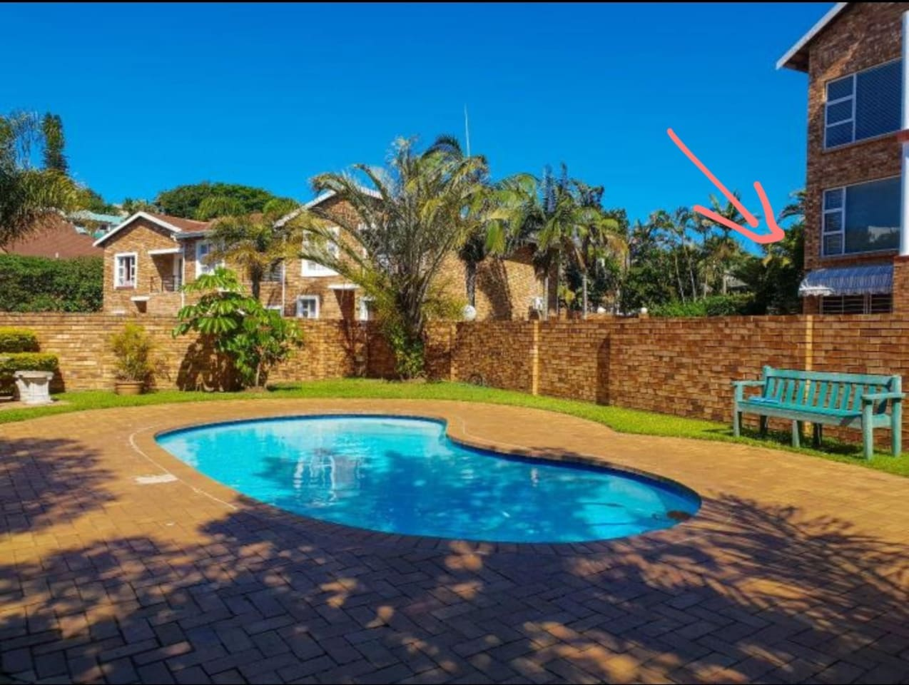Pool and braai area in complex