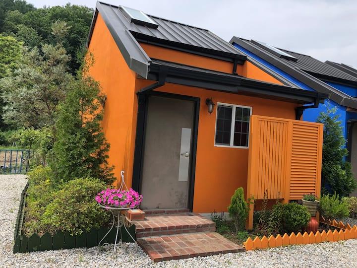 대명비발디 근처의 스파가 있는 독채-오렌지동