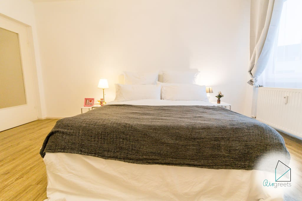 The large double bed will be prepared for you with fresh bedlinen.