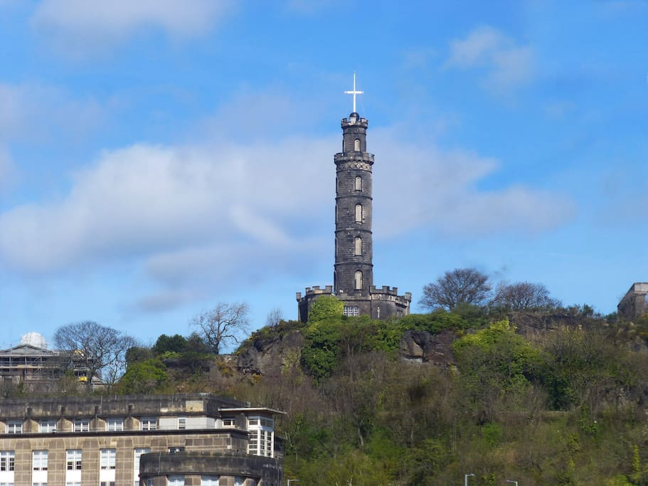 View of Calton Hill from the living room