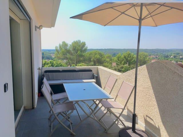 Calme et belle vue, proximité de Montpellier