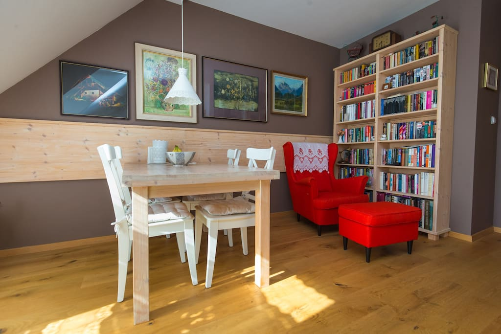 Dining area and reading nook