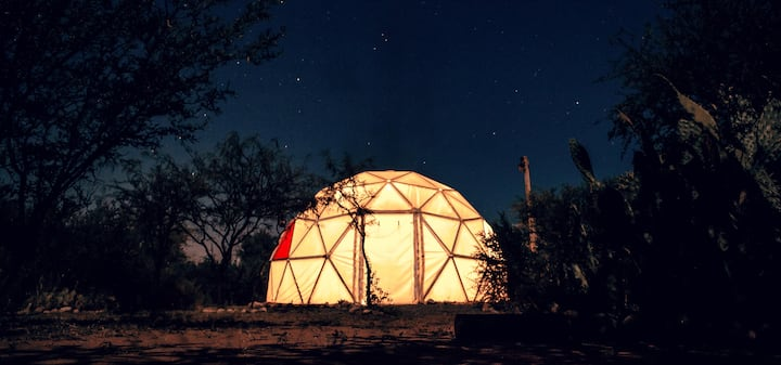 Glamping with Geodesic Domes by San Marcos river