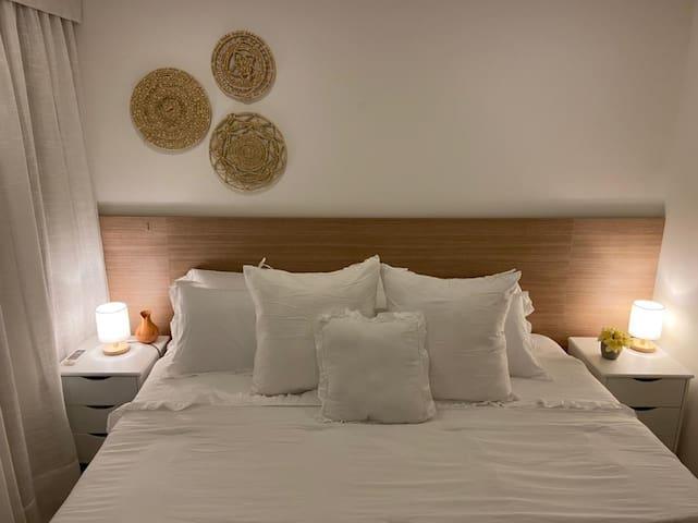 Dormitorio. (El huésped elige si quiere cama matrimonial o cama separada)