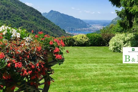 B&B with pool and view Lake Como - LECCO -Ballabio- LAGO DI COMO - Oda + Kahvaltı