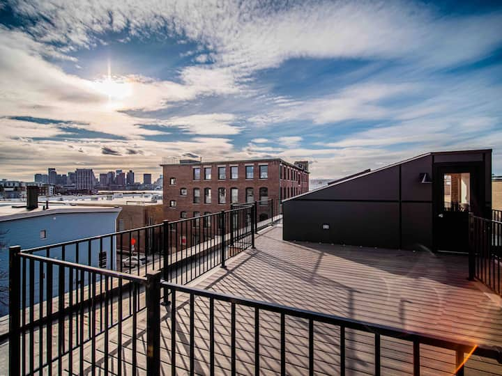 Light-Filled City Lofts in Historic Brick Building