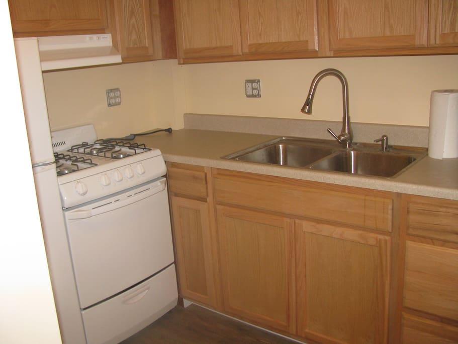 Newly built kitchen.