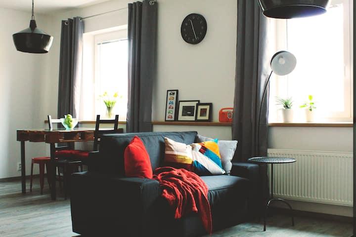 Family, travelers apartment