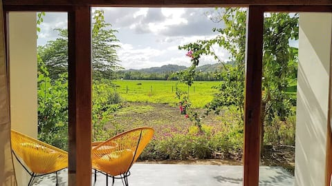 Deluxe Room with View of the Rice Paddies
