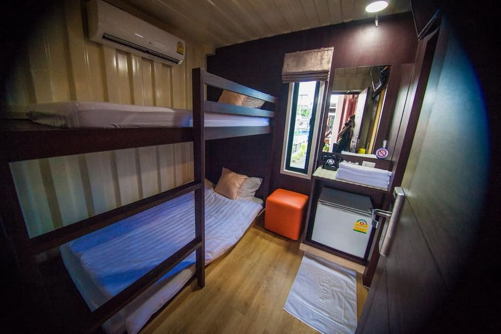 Bunk Bed with air-conditioning and Satellite LCD TV