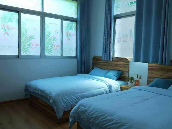 东山风动石景区得闲双床房