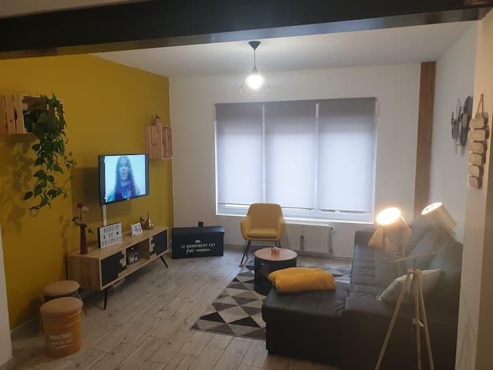 Chambre lit simple, spacieuse -  Calais Ville