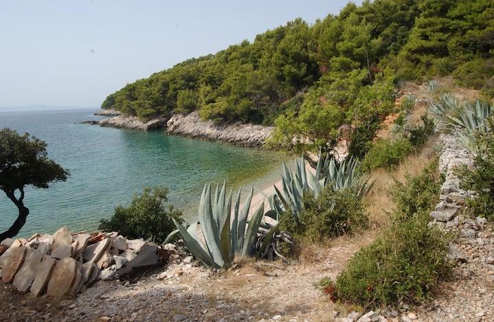 Hidden pearl Robinson camping Medvidina bay Hvar
