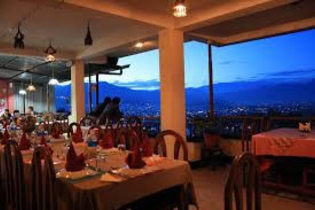 Restaurant with amazing night view of Kathmandu