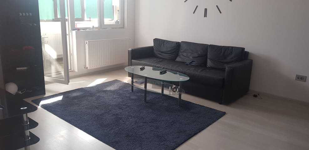 2 Rooms Apartment Bucharest Militari Residence bed