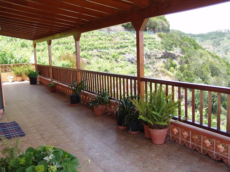 Terraza de casa Quilla