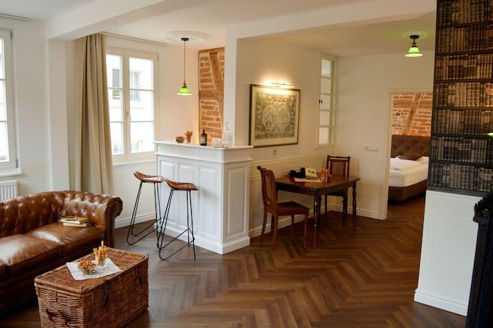 ROSER Suiten, (Gengenbach), Suite Gentleman, 45qm, 1 Schlafzimmer, max. 4 Personen