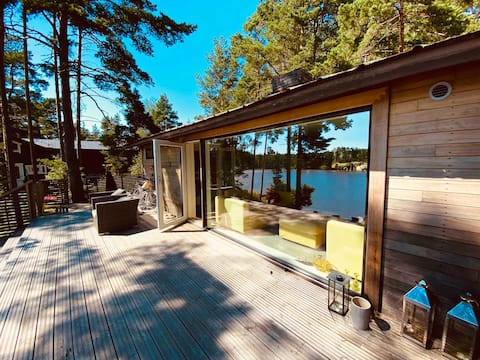 (Sauna & Bathtub) Finnish cottage at the lakeside!