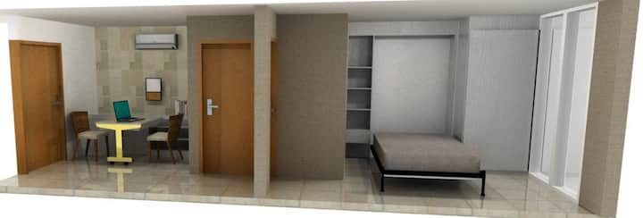 Small space 32 m2 individual accomodation.