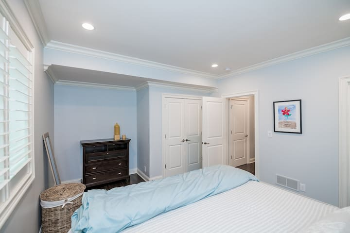King-sized Bedroom in Basement